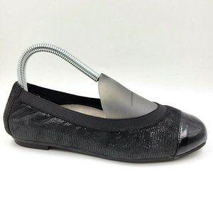 Vionic Allora Black Leather Comfort Captoe Flats7